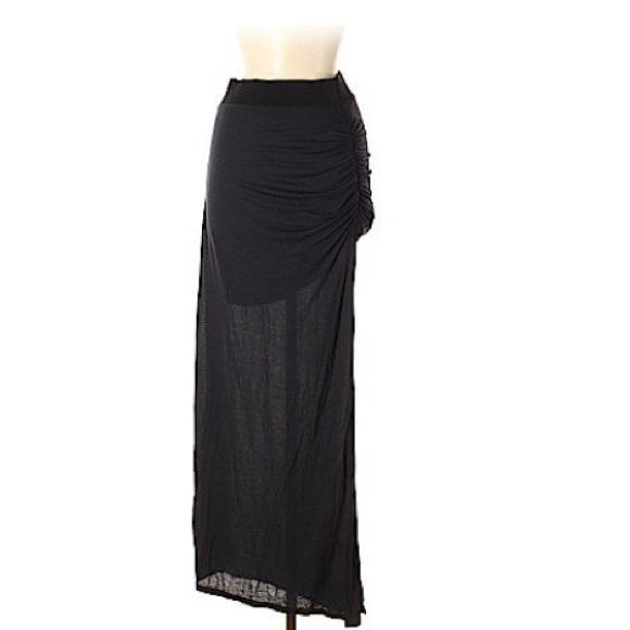 stem Dresses & Skirts - Stem Side Rouched Slit Maxi